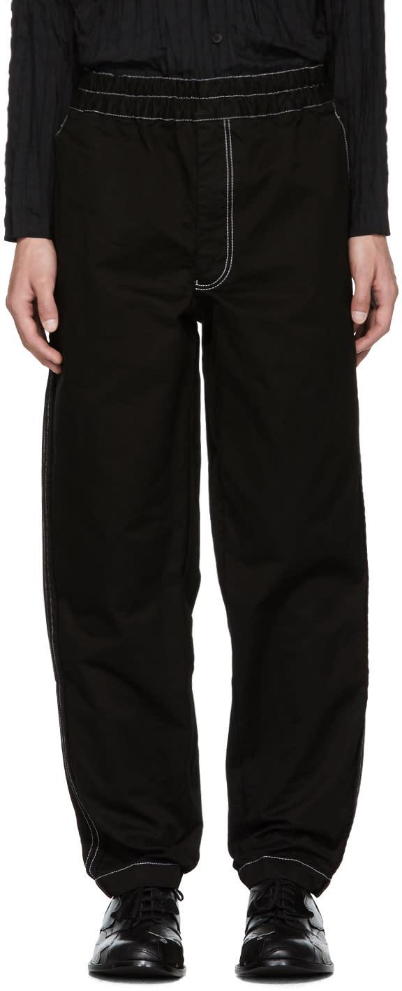 Image of Comme Des Garçons Shirt Black Contrast Stitch Trousers