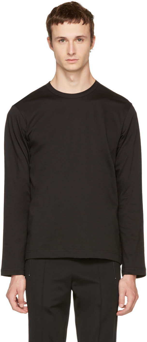 Image of Comme Des Garçons Shirt Black Long Sleeve Basic T-shirt