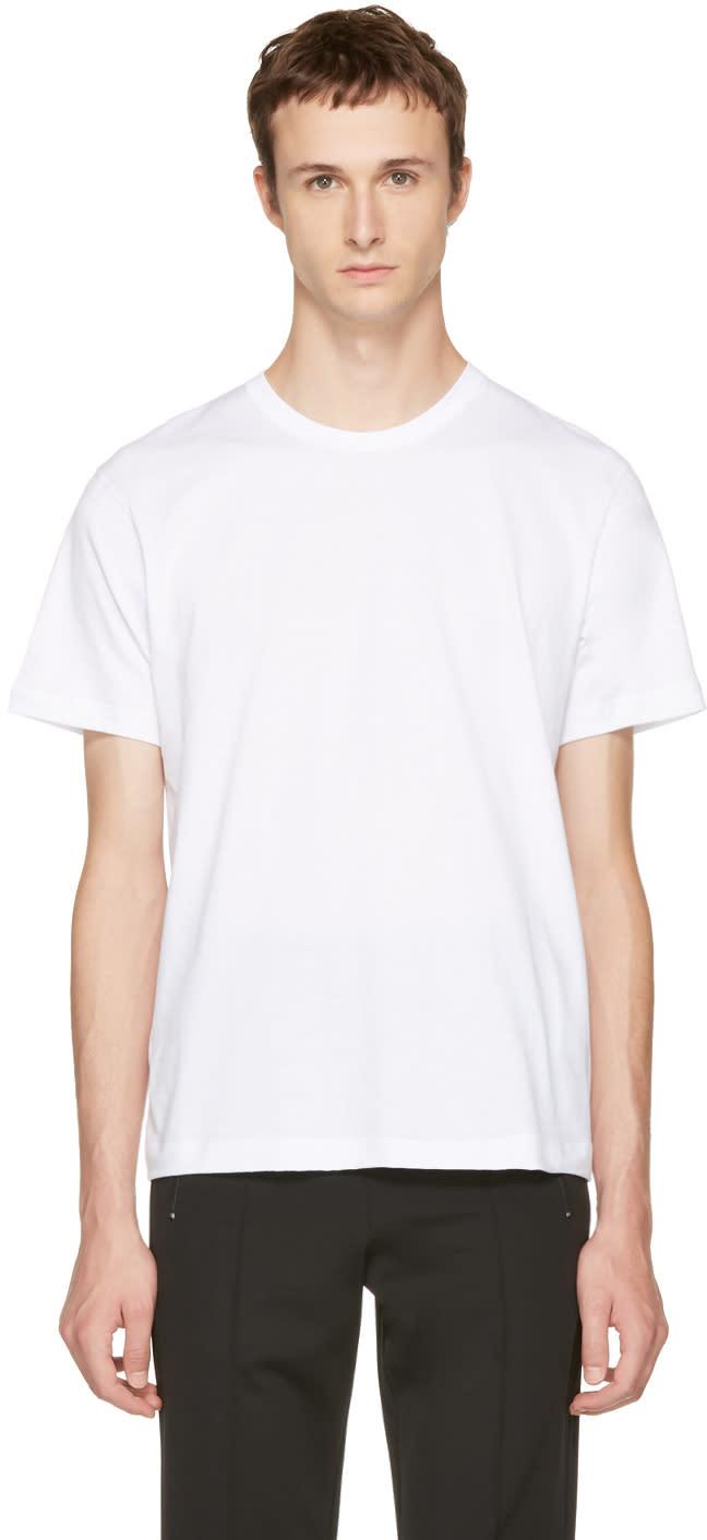Comme Des Garçons Shirt ホワイト ベーシック T シャツ