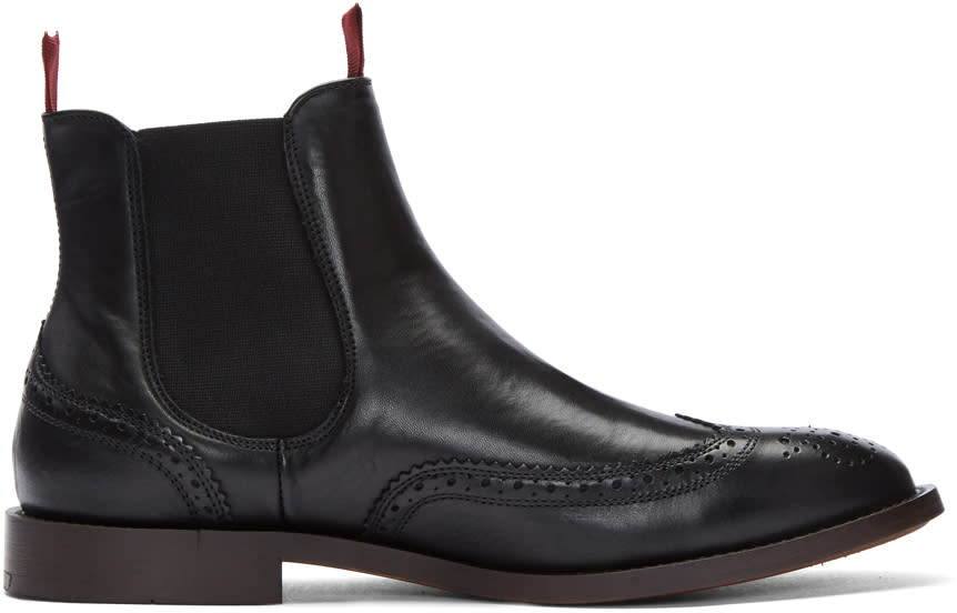 Image of H By Hudson Black Breslin Chelsea Boots