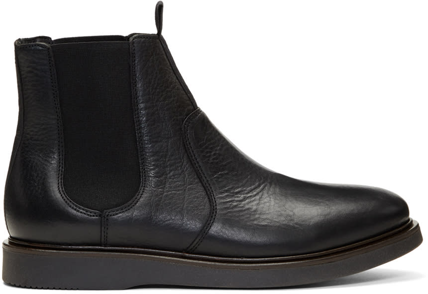 Image of H By Hudson Black Brooksby Chelsea Boots
