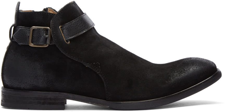 Image of H By Hudson Black Suede Hank Boots