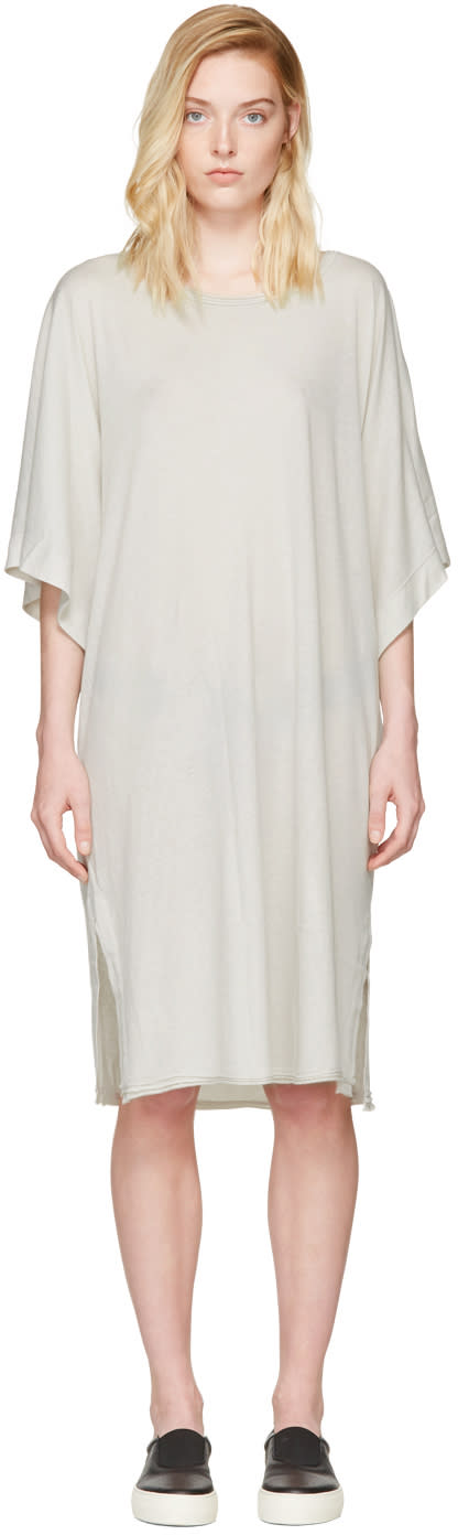 Raquel Allegra Off-white Kimono Dress