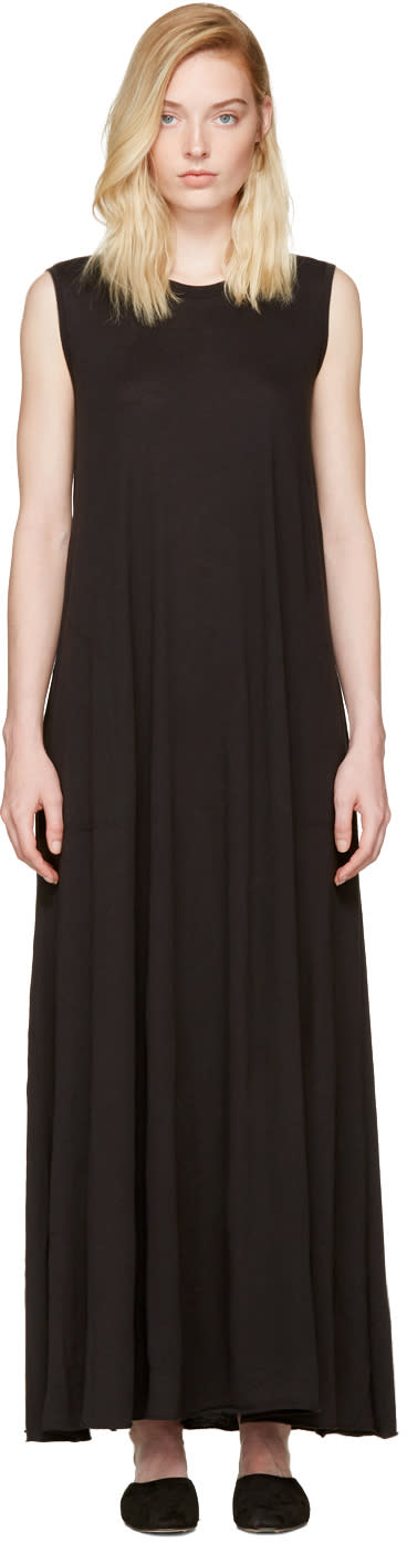 Raquel Allegra Black Drama Maxi Dress