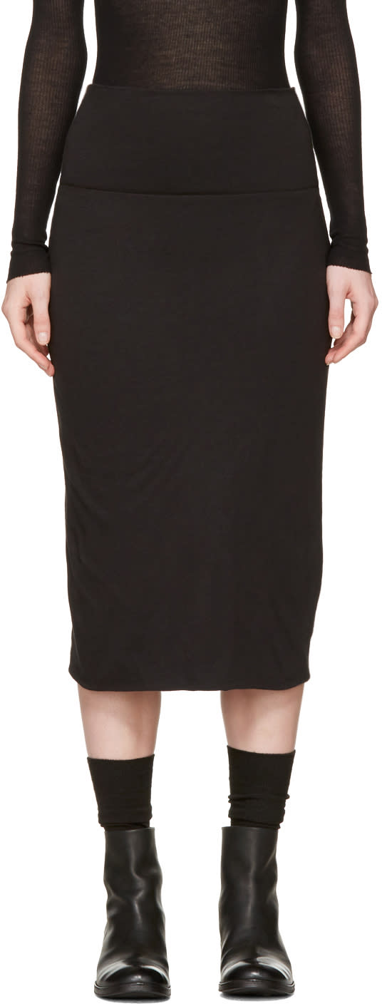 Raquel Allegra Black Tube Skirt