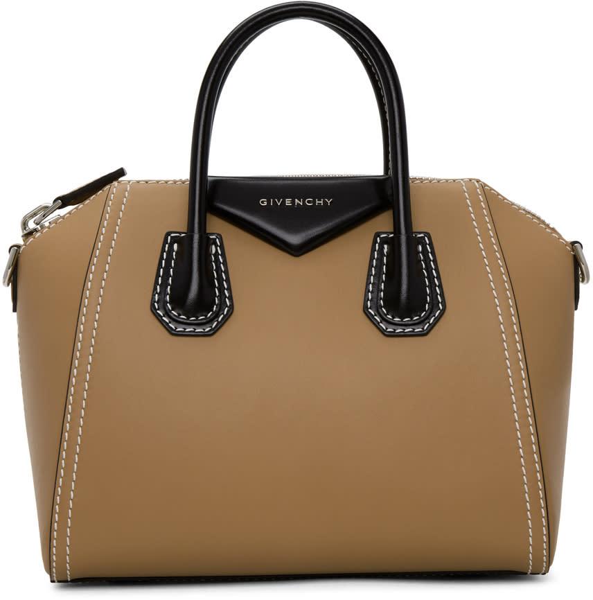 Image of Givenchy Beige and Black Small Antigona Bag