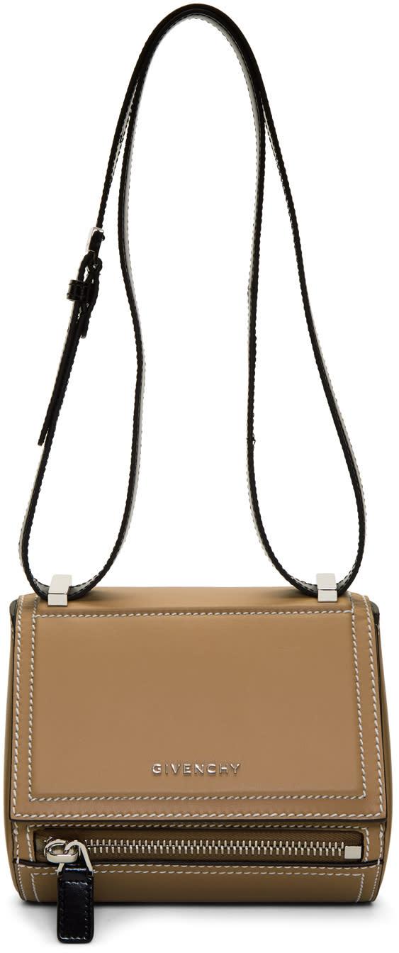 Image of Givenchy Beige Mini Pandora Box Bag
