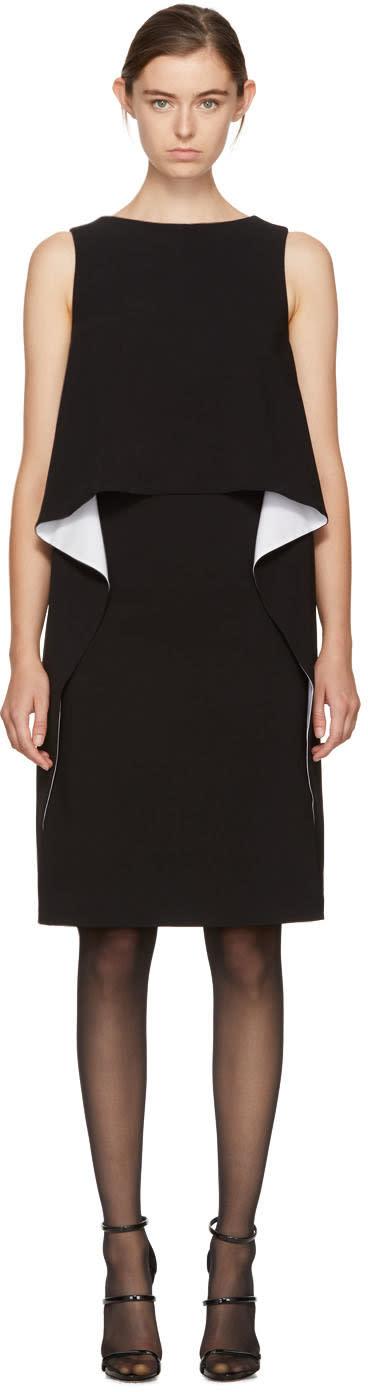 Givenchy Black and White Draped Dress