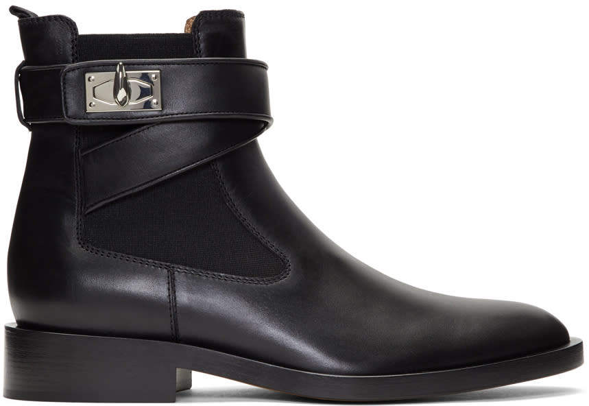 Givenchy Black Shark Lock Boots