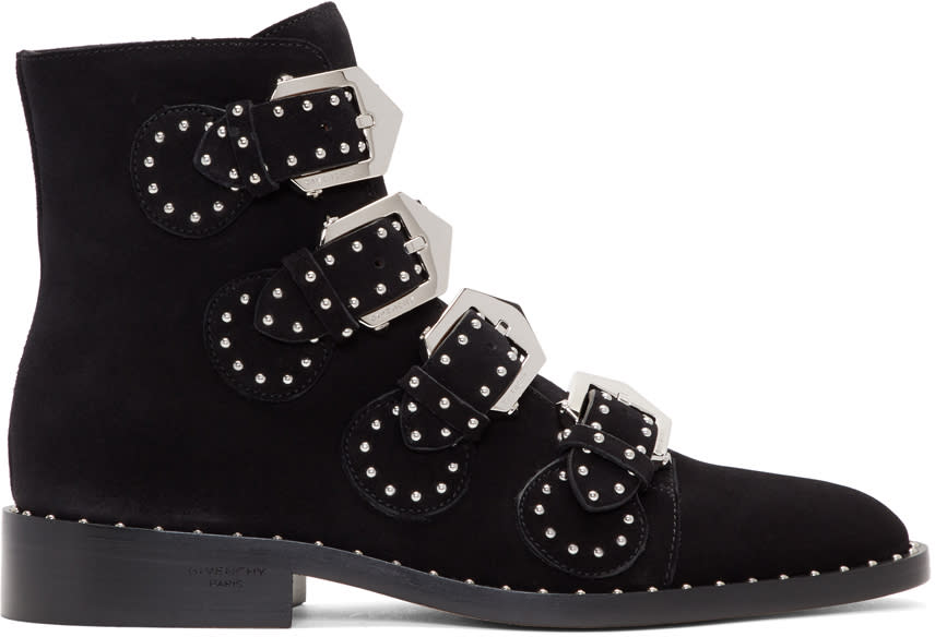 Givenchy Black Suede Elegant Boots