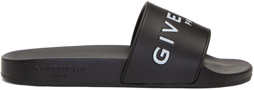 Givenchy-Black Logo Slides