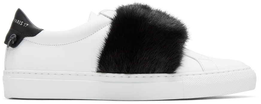 Givenchy Baskets Noires Et Blanches Fur Urban Knots