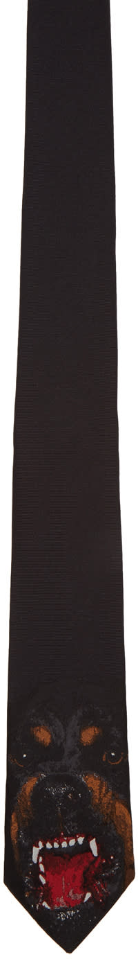 Givenchy Black Rottweiler Tie