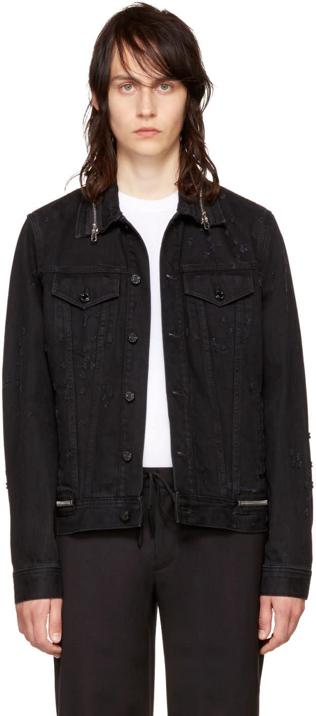 Givenchy ブラック デニム ジッパー ジャケット