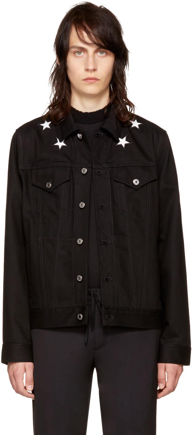 Givenchy ブラック デニム スター ジャケット