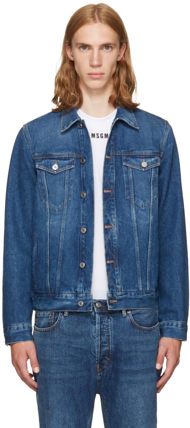 Givenchy ブルー デニム バック ロゴ ジャケット