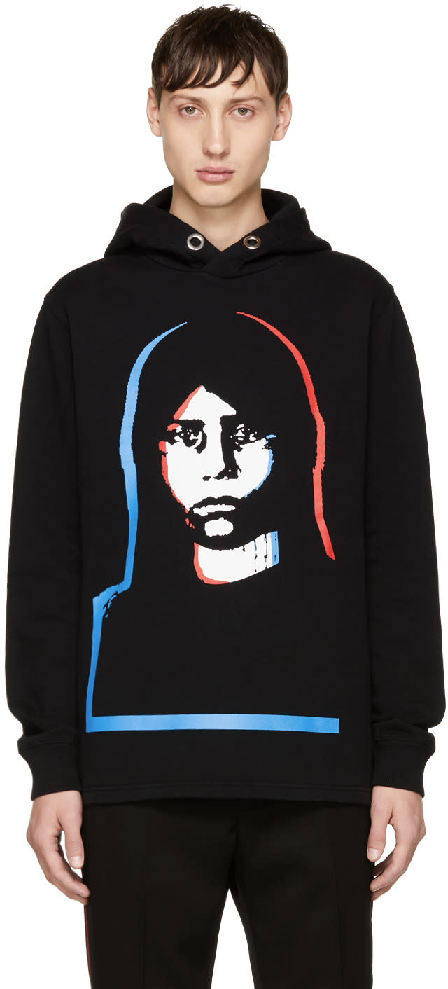 Image of Givenchy Black Abstract Girl Hoodie