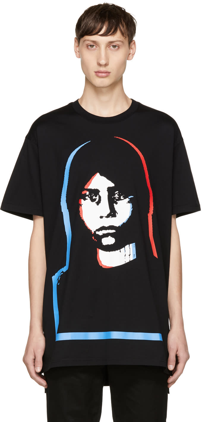 Image of Givenchy Black Abstract Girl T-shirt