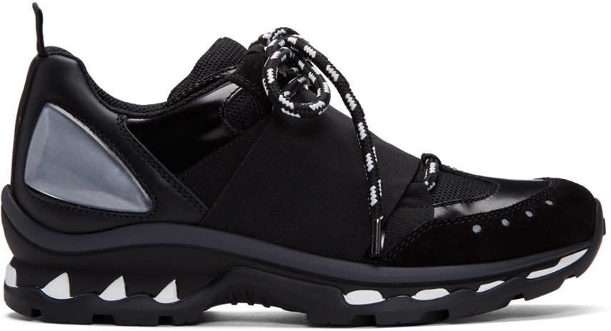 Givenchy ブラック ハイブリッド トレーナー スニーカー