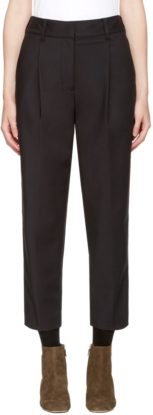Image of 3.1 Phillip Lim Black Carrot Trousers