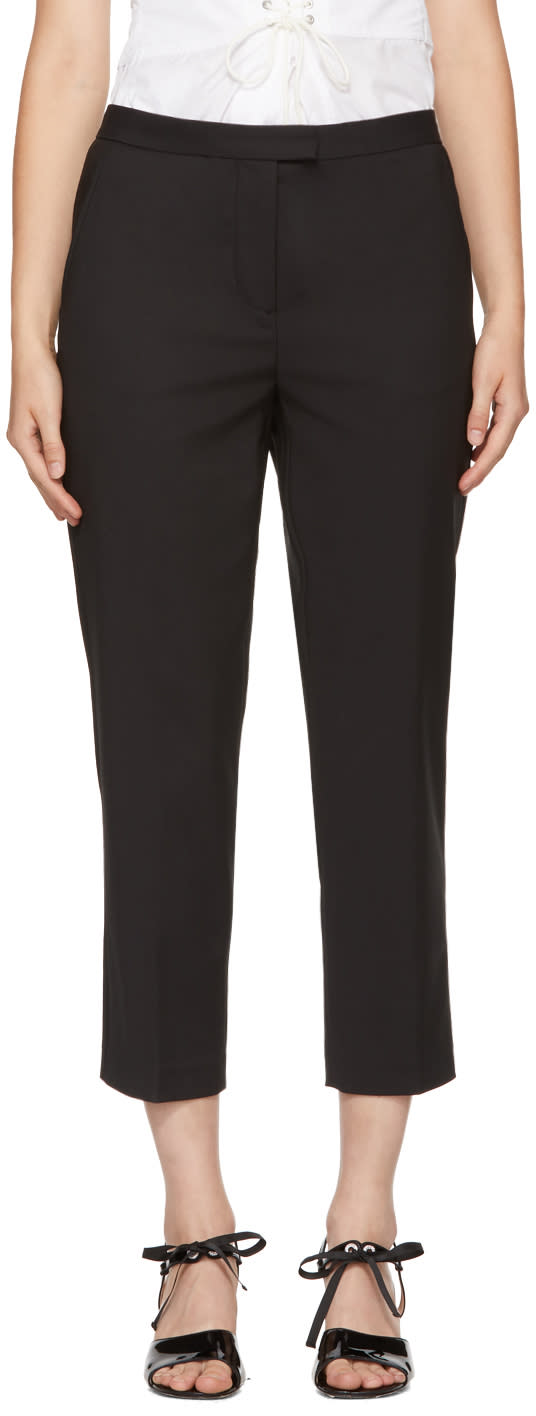 31 Phillip Lim Black Cropped Needle Trousers