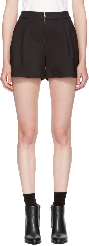 Image of 3.1 Phillip Lim Black Exposed Zip Shorts