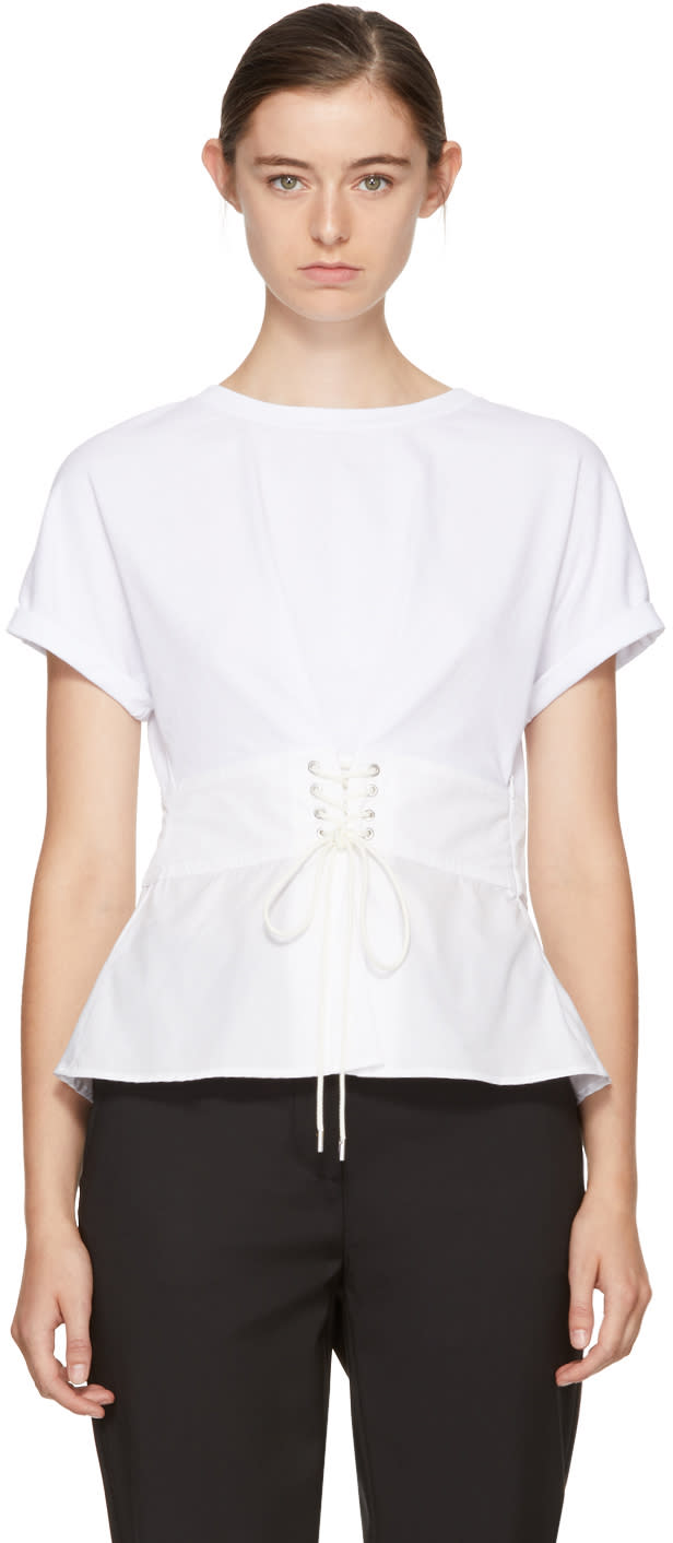 31 phillip lim female 31 phillip lim white corset tshirt