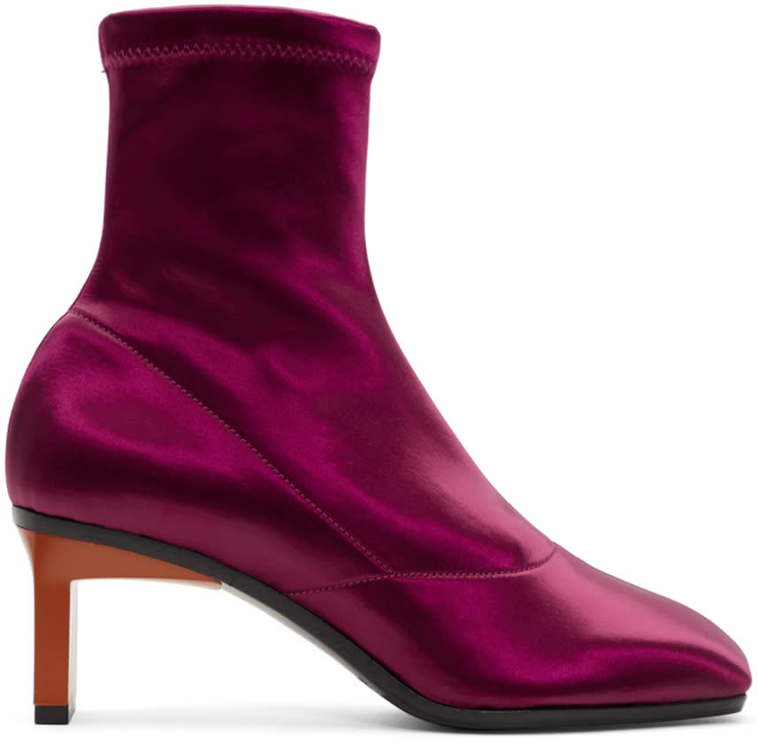 3.1 Phillip Lim Purple Satin Blade Boots