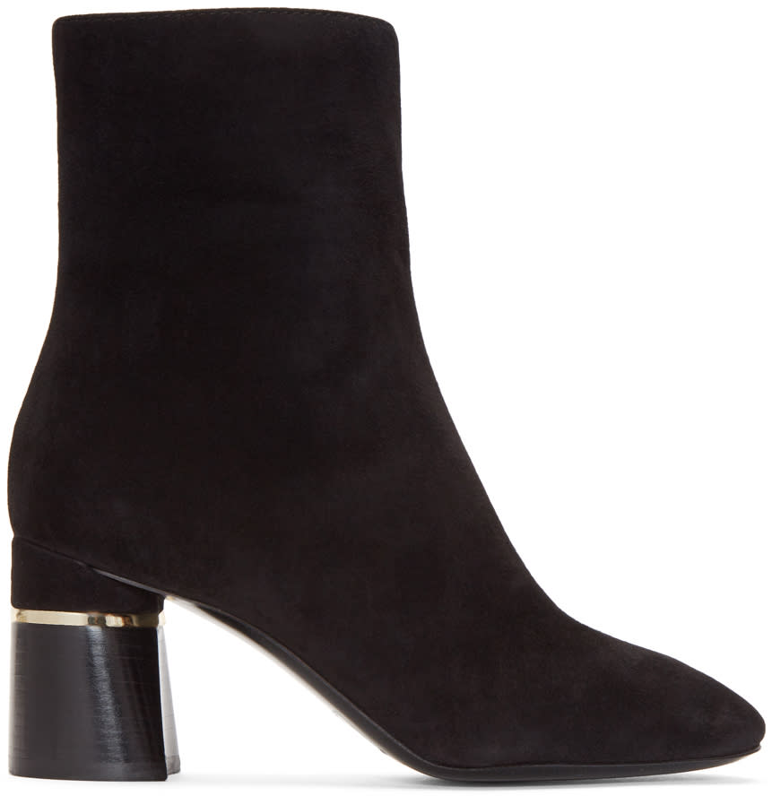 3.1 Phillip Lim Black Suede Drum Boots