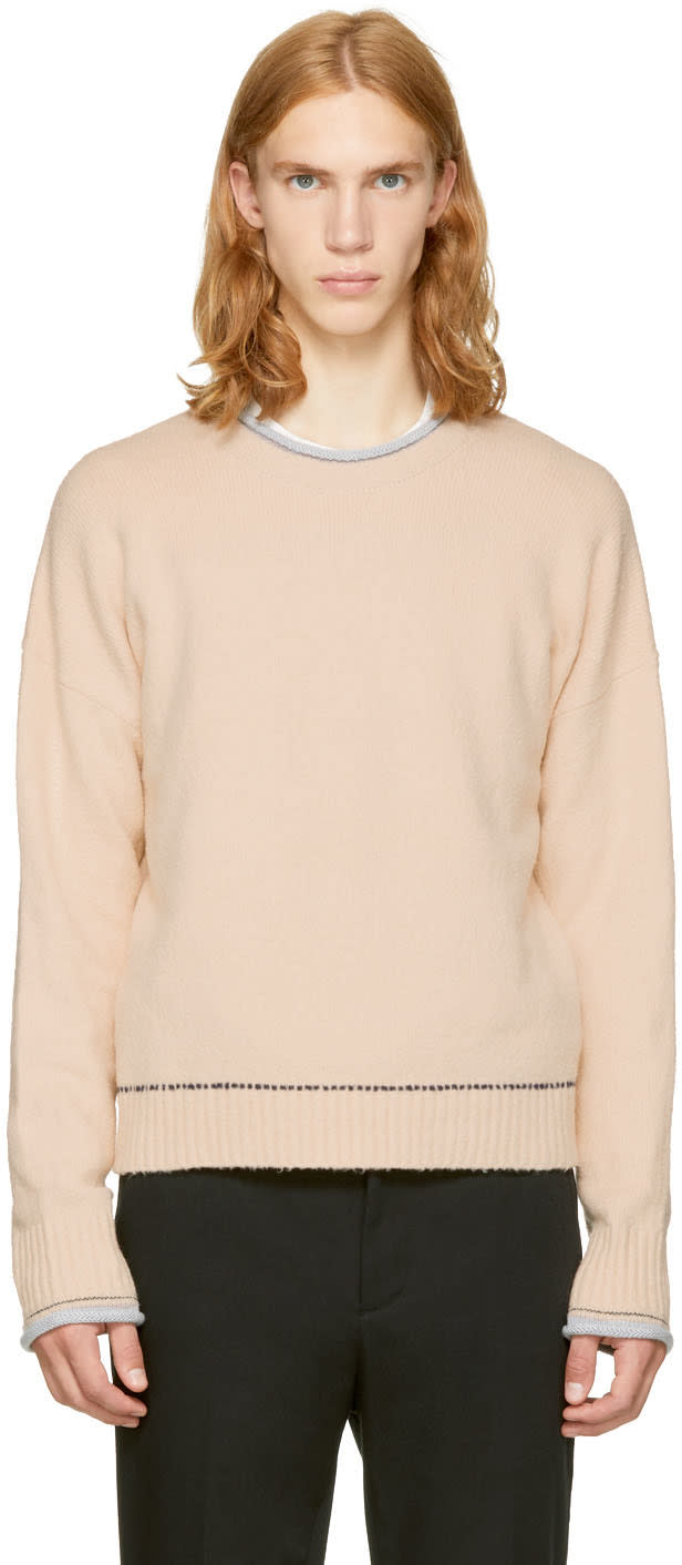 Image of 3.1 Phillip Lim Beige Plaited Boxy Sweater