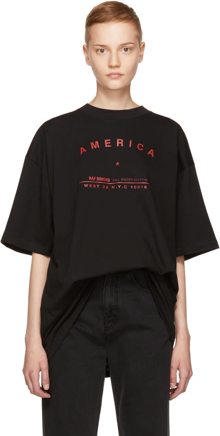 Image of Raf Simons Black america Big T-shirt