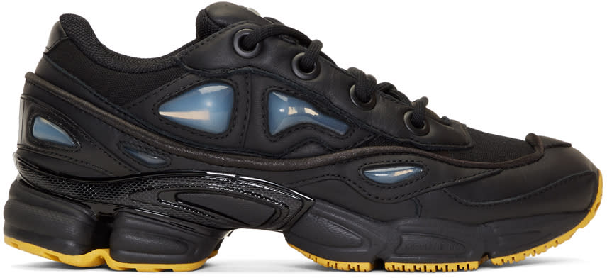 Raf Simons Black Adidas Originals Edition Ozweego Iii Sneakers