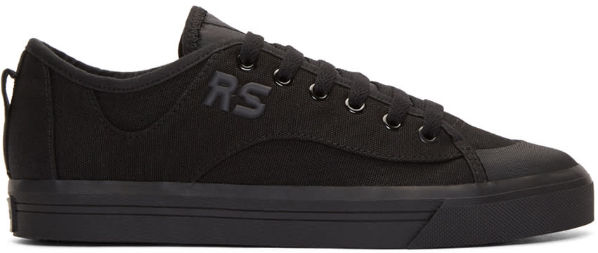 Raf Simons Black Adidas Originals Edition Spirit V Sneakers