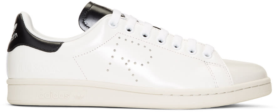 Raf Simons Off-white and Black Adidas Originals Edition Stan Smith Sneakers