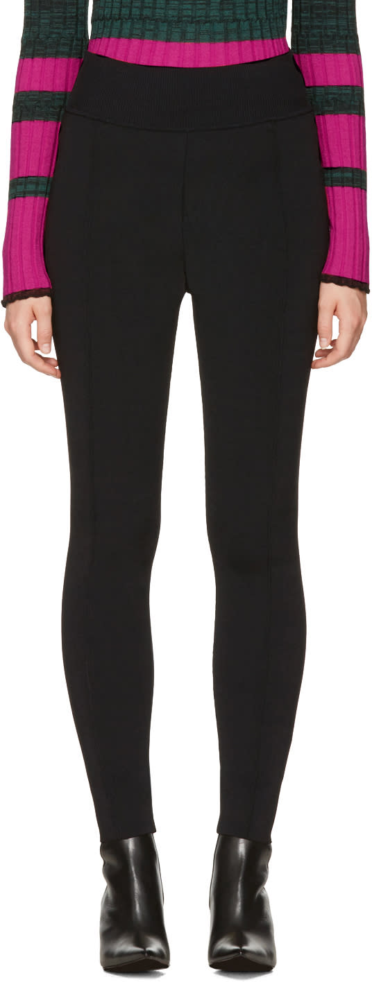 Image of Proenza Schouler Black Knit Leggings