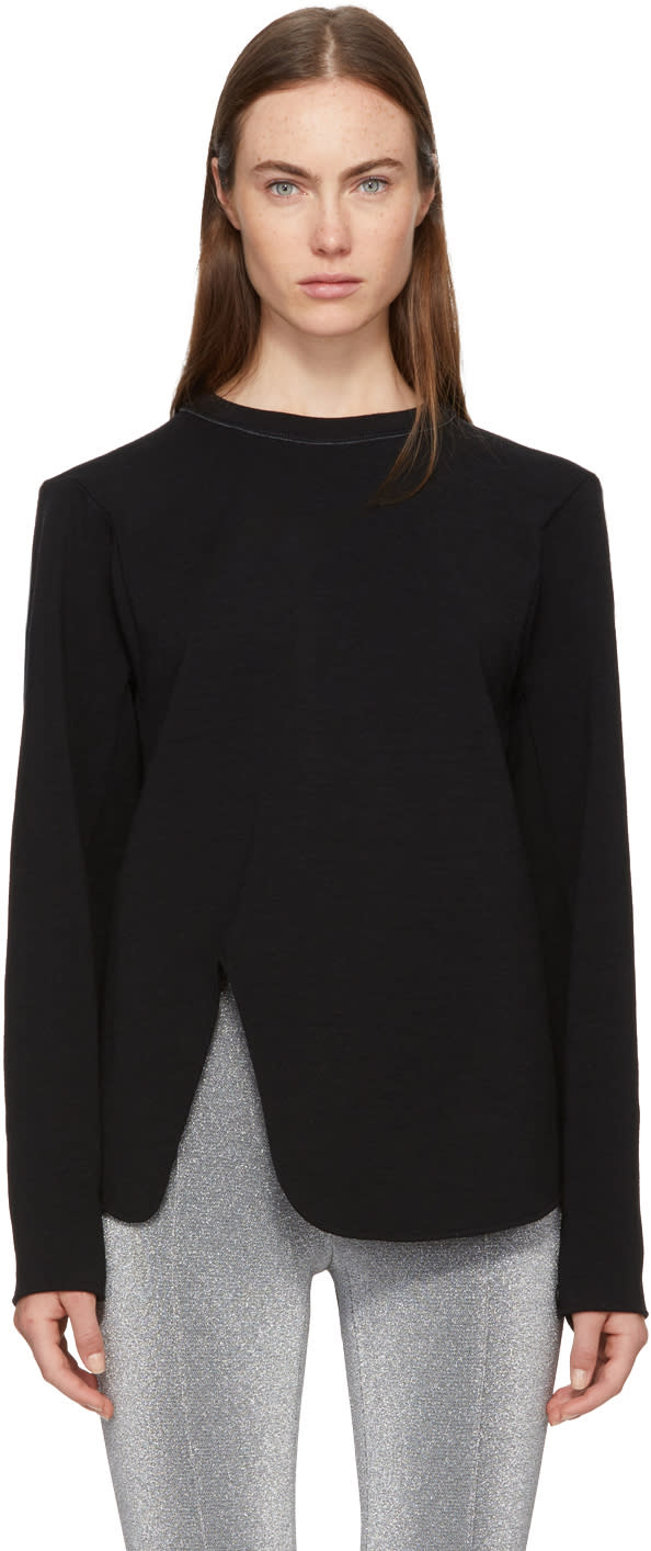 Image of Proenza Schouler Black Cut-out Sweatshirt