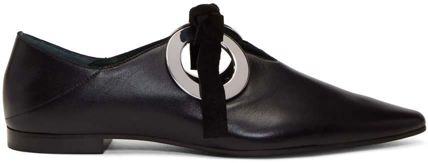 Image of Proenza Schouler Black Grommet Loafers