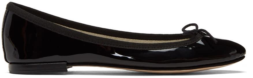Image of Repetto Black Patent Cendrillon Ballerina Flats
