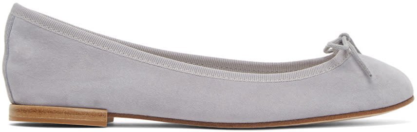 Repetto Purple Suede Cendrillon Ballerina Flats