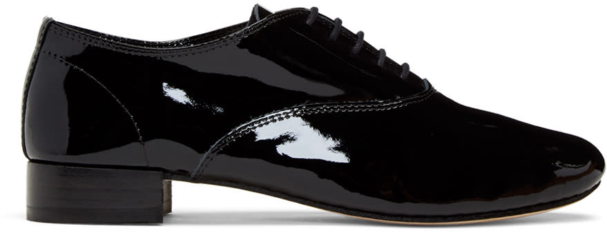 Repetto Black Patent Zizi Oxfords