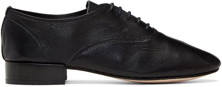 Repetto Black Goatskin Zizi Oxfords