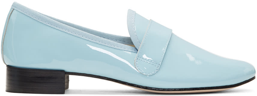 Repetto Blue Patent Michael Loafers