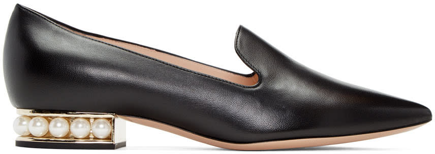 Image of Nicholas Kirkwood Black Casati Pearl Loafers
