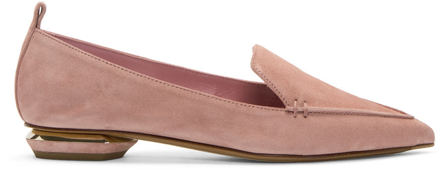 Nicholas Kirkwood Pink Suede Beya Loafers