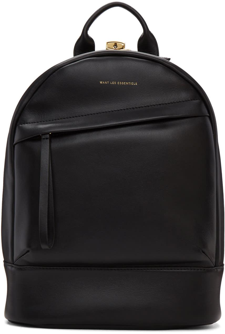 Image of Want Les Essentiels Black Mini Piper Backpack
