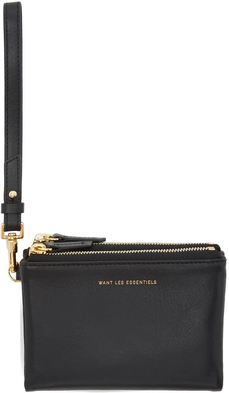 Image of Want Les Essentiels Black Aquino Zip Wallet