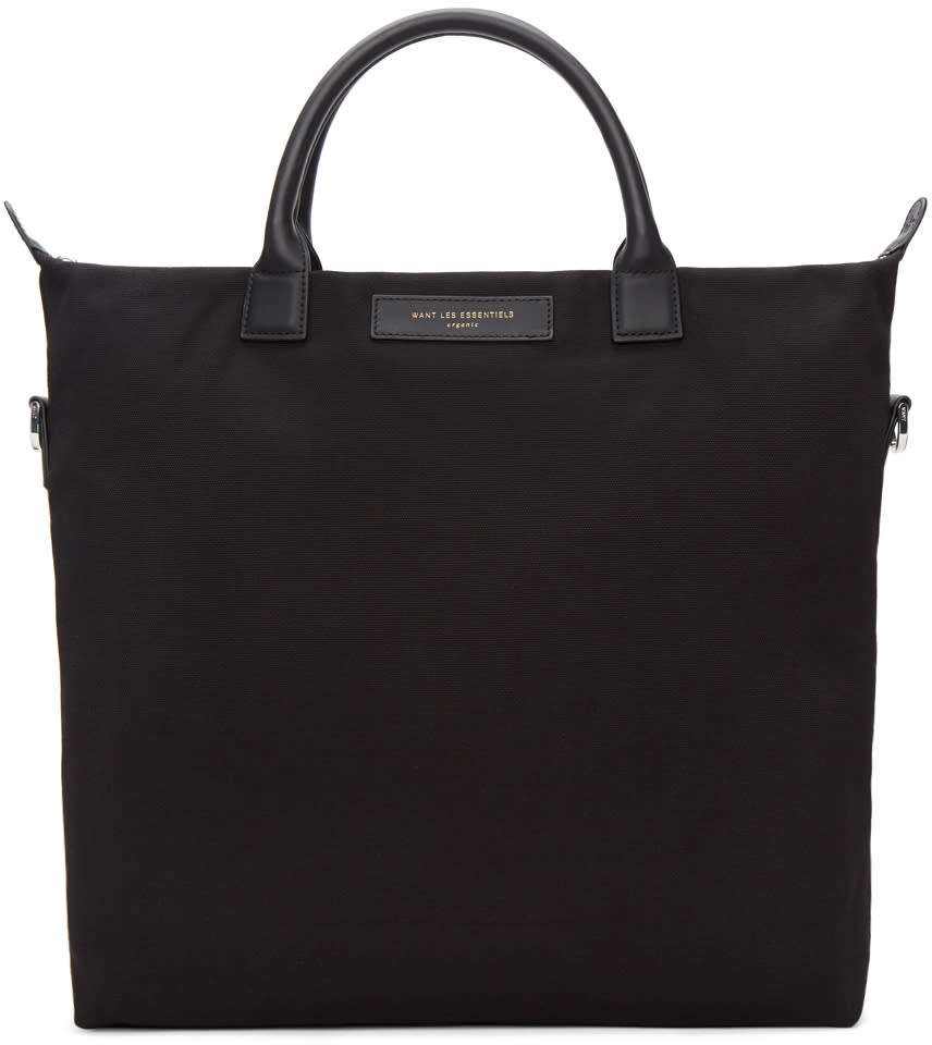 Image of Want Les Essentiels Black Canvas Ohare Shopper Tote