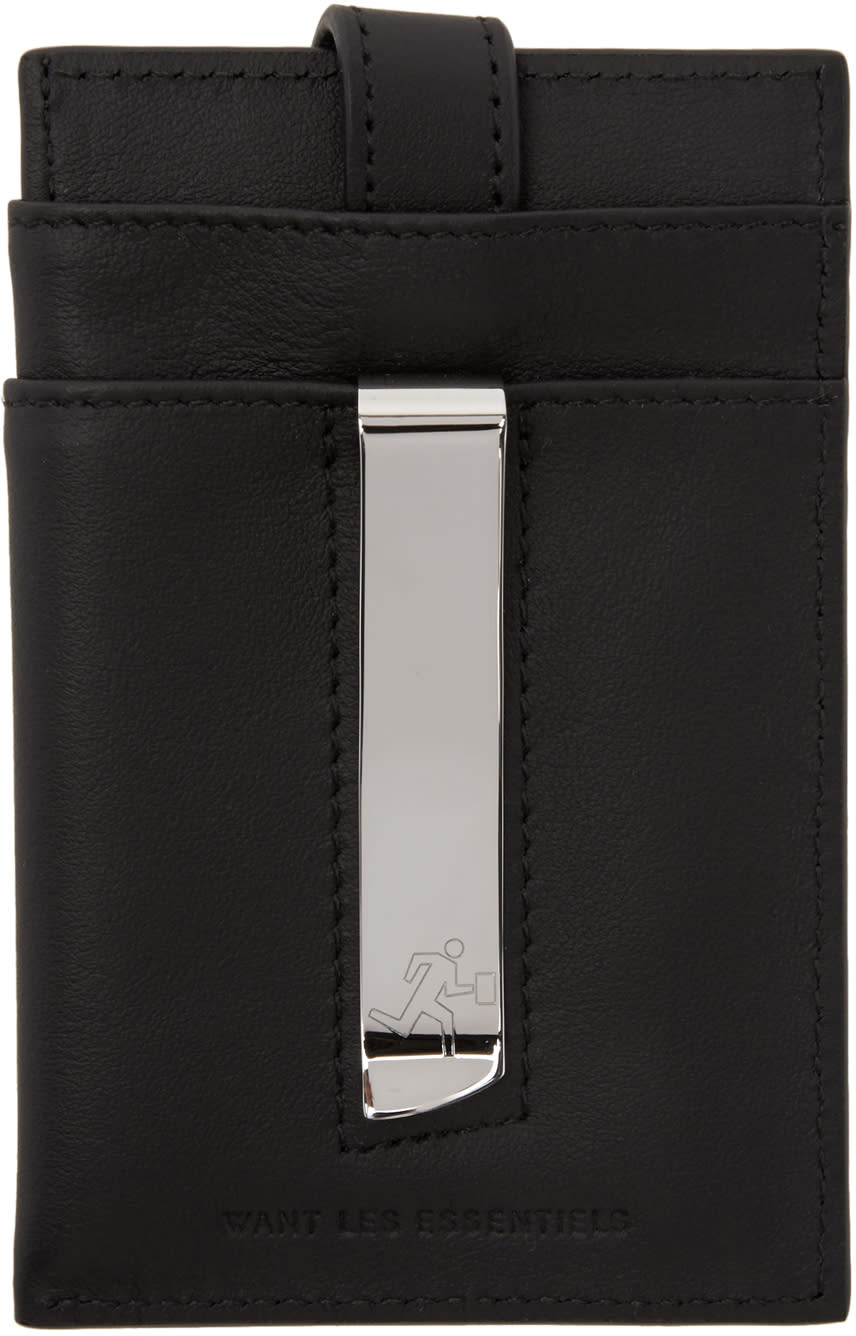 Image of Want Les Essentiels Black Kennedy Card Holder