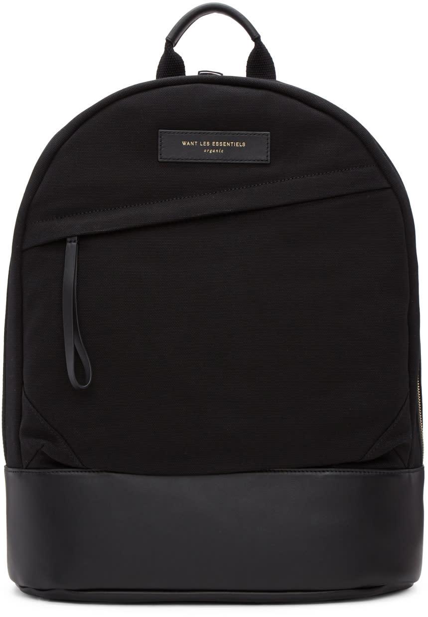 Image of Want Les Essentiels Black Canvas Kastrup Backpack