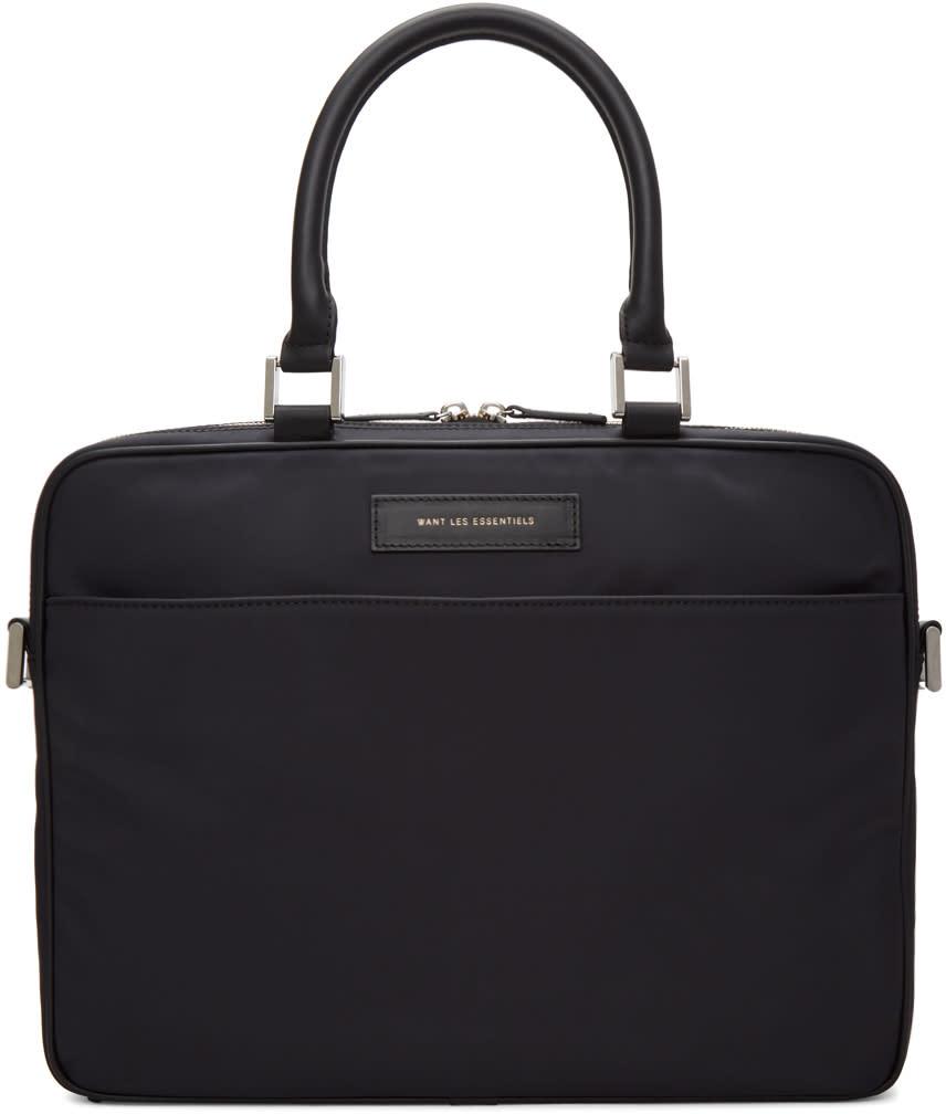 Image of Want Les Essentiels Black Haneda Computer Briefcase